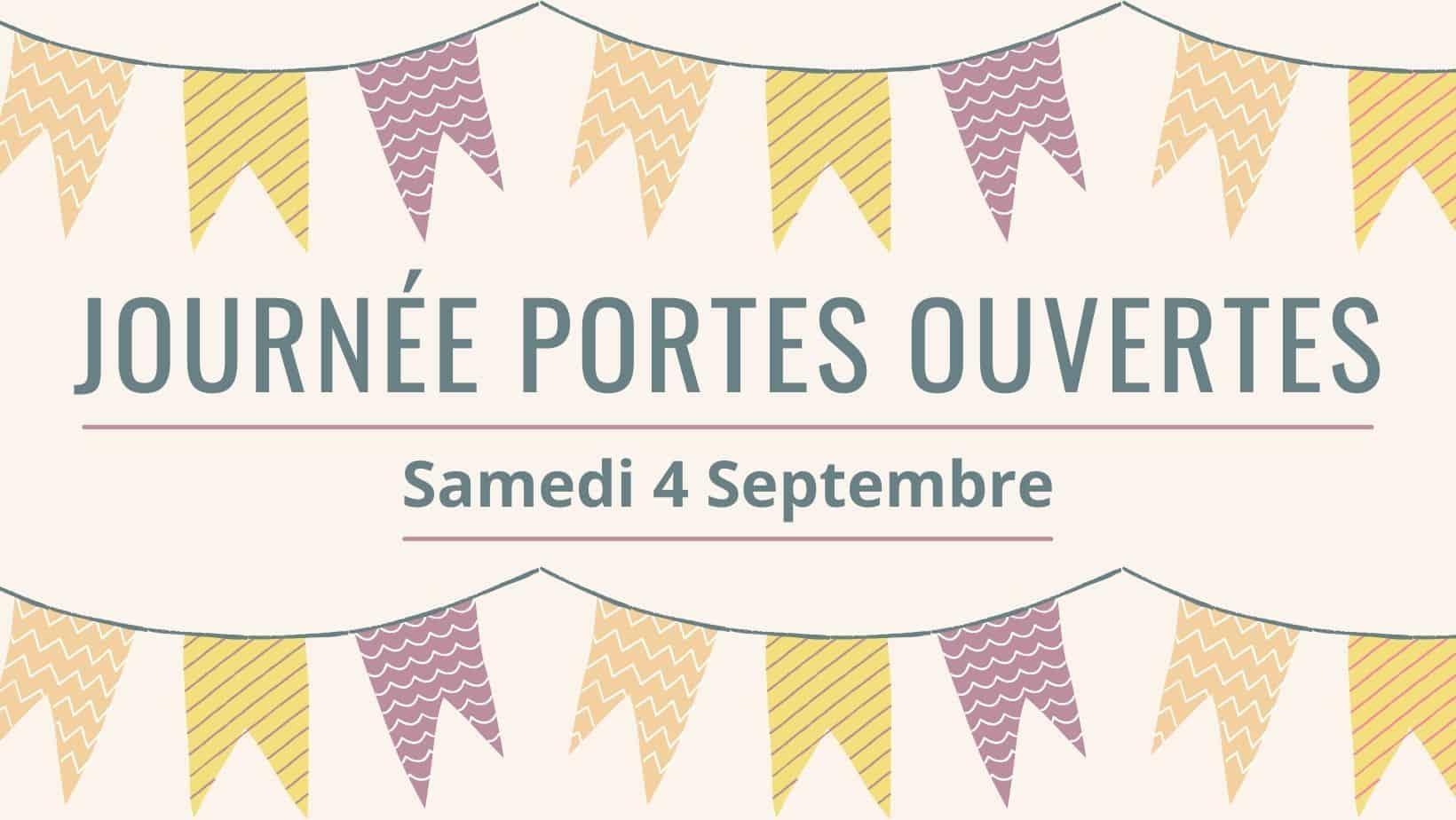 Journée portes ouvertes, samedi 4 septembre